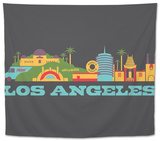 City Living Los Angeles Aspahlt Tapestry