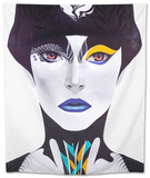 Blue Lip Tapestry by  Minjae