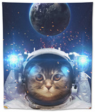 Beautiful Cat in Outer Space. Elements of this Image Furnished Tapestry by  Vadimsadovski