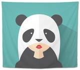 The Girl in the Panda Suit Tapestry by  Jul19