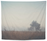 Foggy Field in Winter Tapestry by Laura Evans