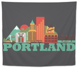 City Living Portland Asphalt Tapestry
