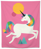 To Be a Unicorn Tapestry by Andy Westface