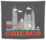 City Living Chicago Asphalt Tapestry
