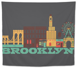 City Living Brooklyn Asphalt Tapestry