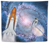 Space Shuttle Astronaut Rocket Tapestry by  NikoNomad