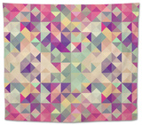 Vintage Hipsters Geometric Pattern Tapestry by  cienpies