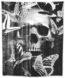 Skull Butterfly Crown Tapestry