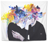 Intimacy on Display Tapestry by Agnes Cecile