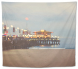 A Pier in Summer in USA Tapestry by Myan Soffia