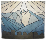 Geometric Mountain Tapestry by Anna Polanski