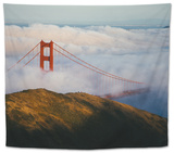 Golden Gate Life, Bridge and Bay Area Fog, San Francisco Tapestry by Vincent James