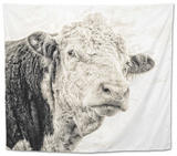 Close Up of Bull's Head Tapestry by Mark Gemmell