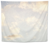 Pale Blue Sky And Clouds 5 Tapestry by Susannah Tucker