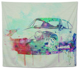 Porsche 911 Watercolor 2 Tapestry by  NaxArt