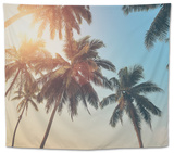 Tropical Sunset Tapestry by  byrdyak