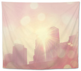 Urban View in Summer Tapestry by Myan Soffia