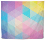 Colorful Abstract Triangles Tapestry by  art_of_sun