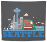 City Living Seattle Asphalt Tapestry