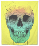 Pop Art Skull Tapestry by Balazs Solti