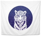 Tiger and Stellar Sky. Tapestry by  MargaritaSh