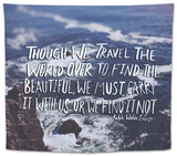 Travel Beautiful Tapestry by Leah Flores