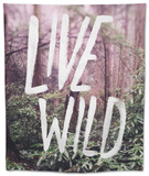 Live Wild Oregon Tapestry by Leah Flores