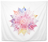 Mandala Colorful Watercolor. Beautiful round Pattern. Detailed Abstract Pattern. Decorative Isolate Tapestry by  pilipa