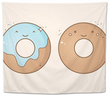 Two Smiling Donuts Tapestry by  korinoxe