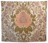 Vintage Wallpaper Interior with a Regal Floral Design Tapestry by Jena Ardell