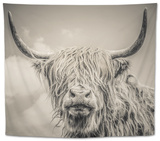 Highland Cattle Tapestry by Mark Gemmell