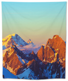 Europe, France, Haute Savoie, Rhone Alps, Chamonix, Grand Combin and the Matterhorn in Switzerland Tapestry by Christian Kober