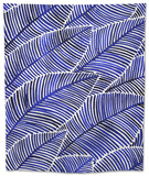 Tropical Leaves in Navy Tapestry by Cat Coquillette
