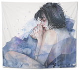 Fine on the Outside Tapestry by Agnes Cecile