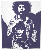 Jimi Hendrix - Purple Haze Tapestry by Emily Gray