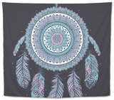 Ethnic Dream Catcher Tapestry by  transiastock