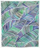 Blues-TropicalLeaves-Artprint Tapestry by Cat Coquillette