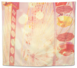 Carnival Lights on a Big Wheel Tapestry by Myan Soffia