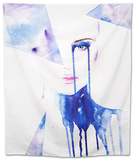 Abstract Watercolor .Woman Portrait Tapestry by Anna Ismagilova