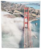 San Francisco Golden Gate Bridge from Aircraft Tapestry by  franckreporter