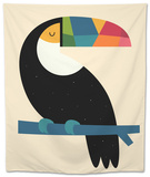 Rainbow Toucan Tapestry by Andy Westface
