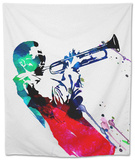 Miles Watercolor Tapestry by Lora Feldman