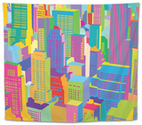 Cityscape Tapestry by Yoni Alter