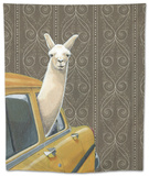 Taxi Llama Tapestry by Jason Ratliff