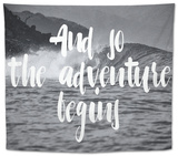 The Adventure Begins Tapestry by Lila Fe