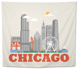 City Living Chicago Natural Tapestry