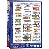 Salmon & Trout 1000 Piece Puzzle Jigsaw Puzzle