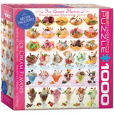 Ice Cream Flavors 1000 Piece Puzzle Jigsaw Puzzle