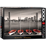 Boston Marina 1000 Piece Puzzle Jigsaw Puzzle