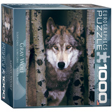 Gray Wolf 1000 Piece Puzzle Jigsaw Puzzle